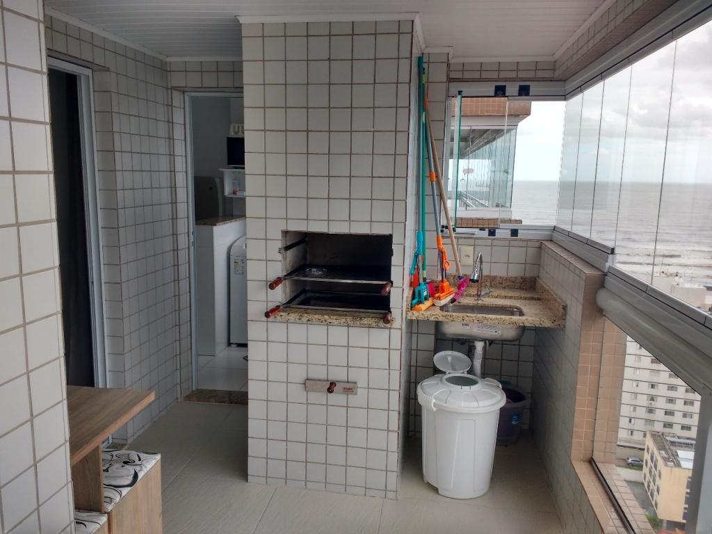 Terraço gourmet do apartamento com 1 dormitórios em Campo da Aviação - Praia Grande