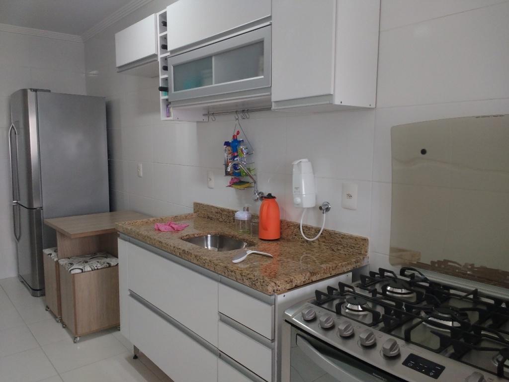 Cozinha ang 04 do apartamento com 1 dormitórios em Campo da Aviação - Praia Grande