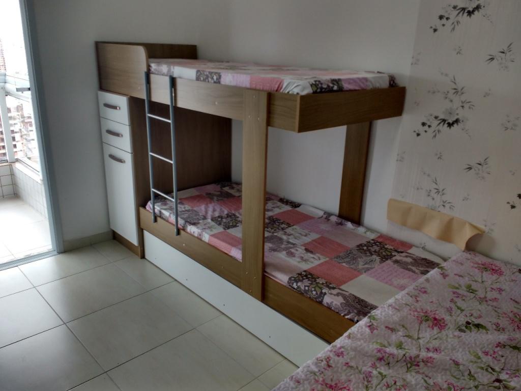 Suíte ang 02 do apartamento com 1 dormitórios em Campo da Aviação - Praia Grande