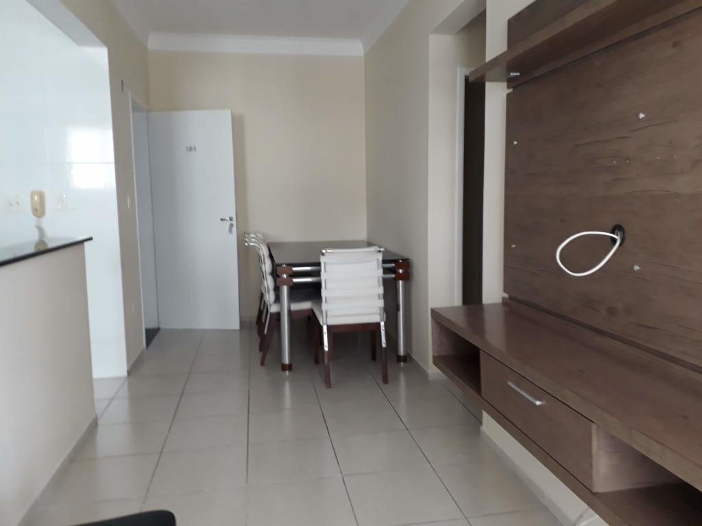 Sala de Jantar e Estar do apartamento com 2 dormitórios em Canto do Forte - Praia Grande