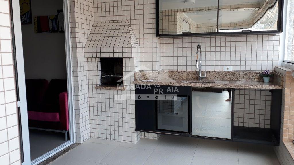 Sacada Gourmet do apartamento com 2 dormitórios em Boqueirão - Praia Grande
