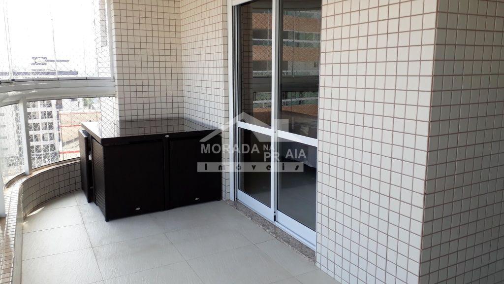 Varanda Gourmet do apartamento com 2 dormitórios em Boqueirão - Praia Grande