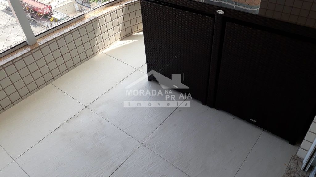 Varanda do apartamento com 2 dormitórios em Boqueirão - Praia Grande