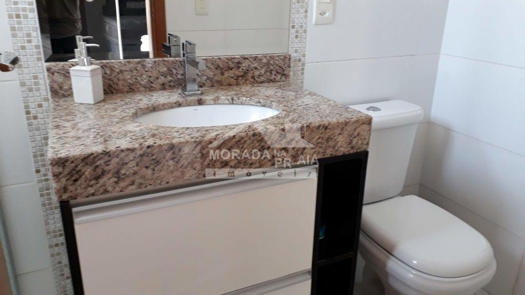 Lavabo do apartamento com 2 dormitórios em Boqueirão - Praia Grande