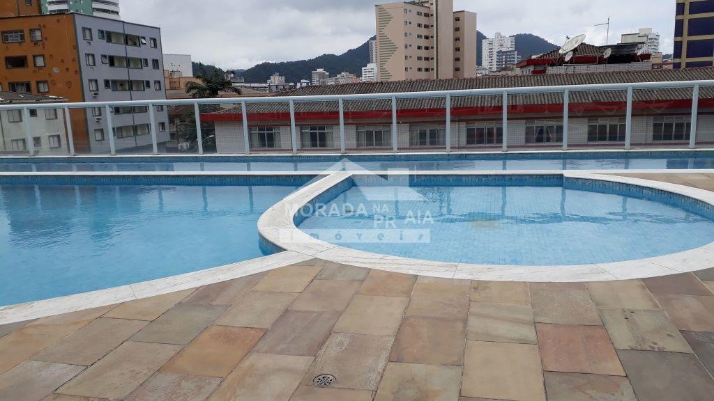 Piscinas do apartamento com 2 dormitórios em Boqueirão - Praia Grande