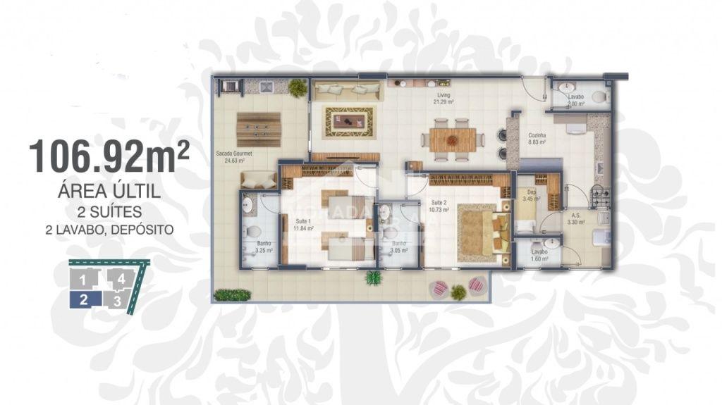 FINAL 2 do apartamento com 2 dormitórios em Canto do Forte - Praia Grande