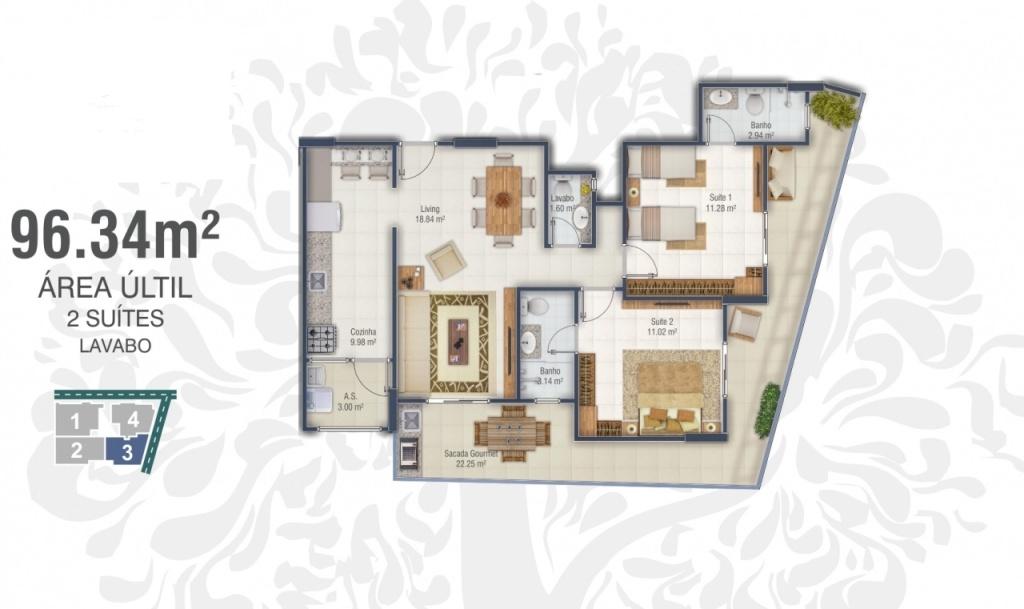 Final 3 do apartamento com 2 dormitórios em Canto do Forte - Praia Grande