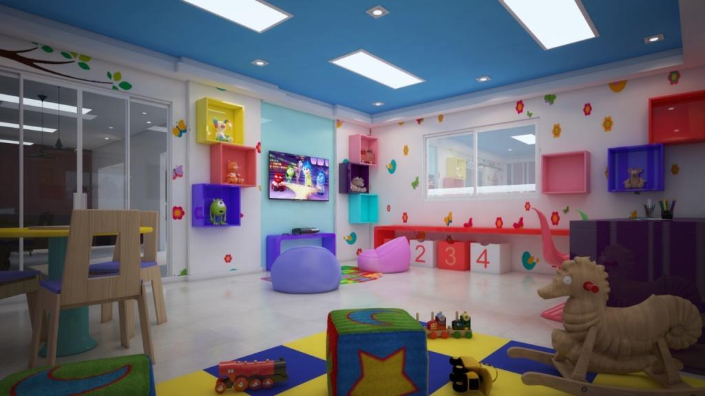 Espaço Kids do apartamento com 2 dormitórios em Canto do Forte - Praia Grande