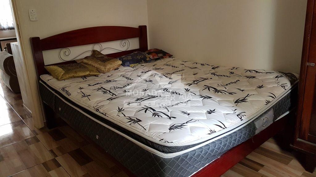 Dormitório 01 ang 02 do apartamento com 2 dormitórios em Canto do Forte - Praia Grande