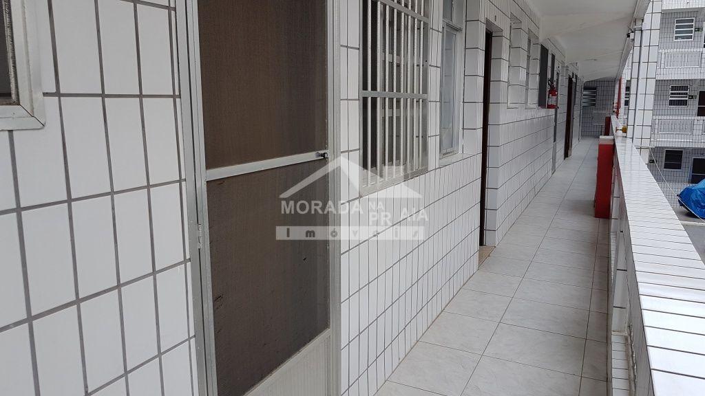 Corredor externo do apartamento com 2 dormitórios em Canto do Forte - Praia Grande