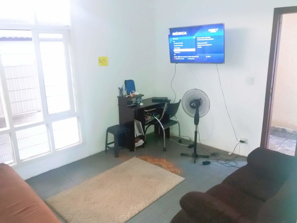 Sala do casa geminada com 2 dormitórios em Boqueirão - Praia Grande
