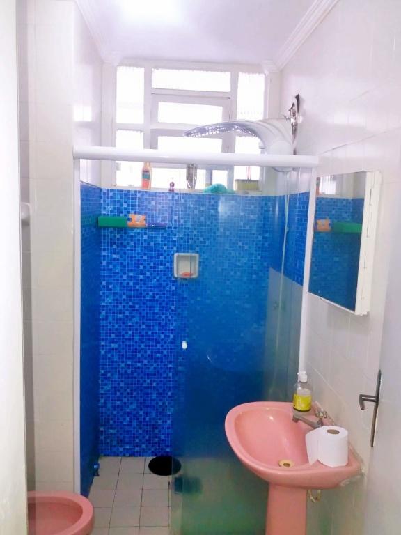 WC social ang 02 do casa geminada com 2 dormitórios em Boqueirão - Praia Grande