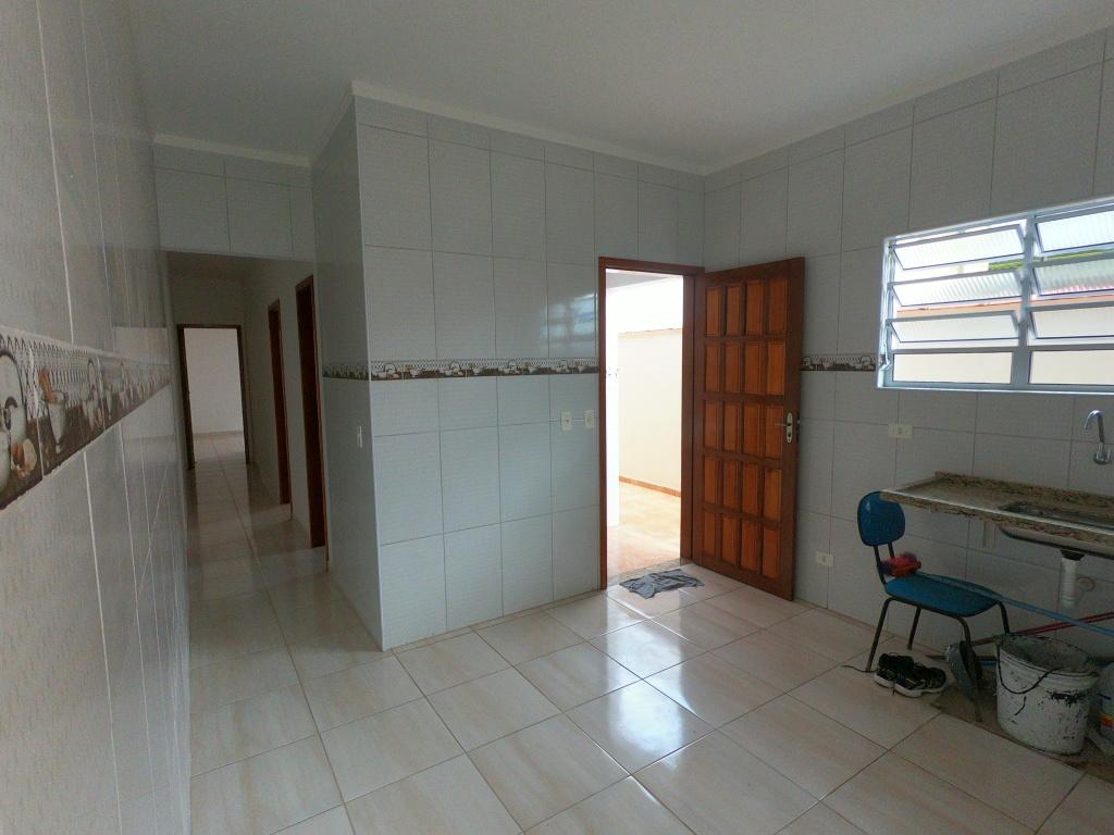 Cozinha do casa geminada com 2 dormitórios em Balneário Esmeralda - Praia Grande