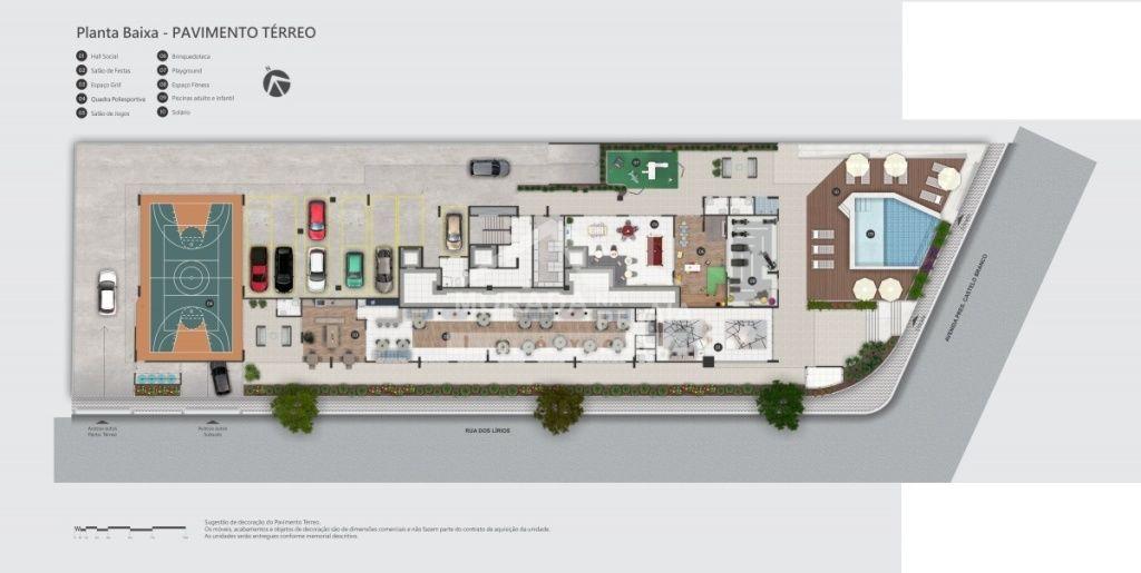 do apartamento com 2 dormitórios em Balneário Flórida - Praia Grande