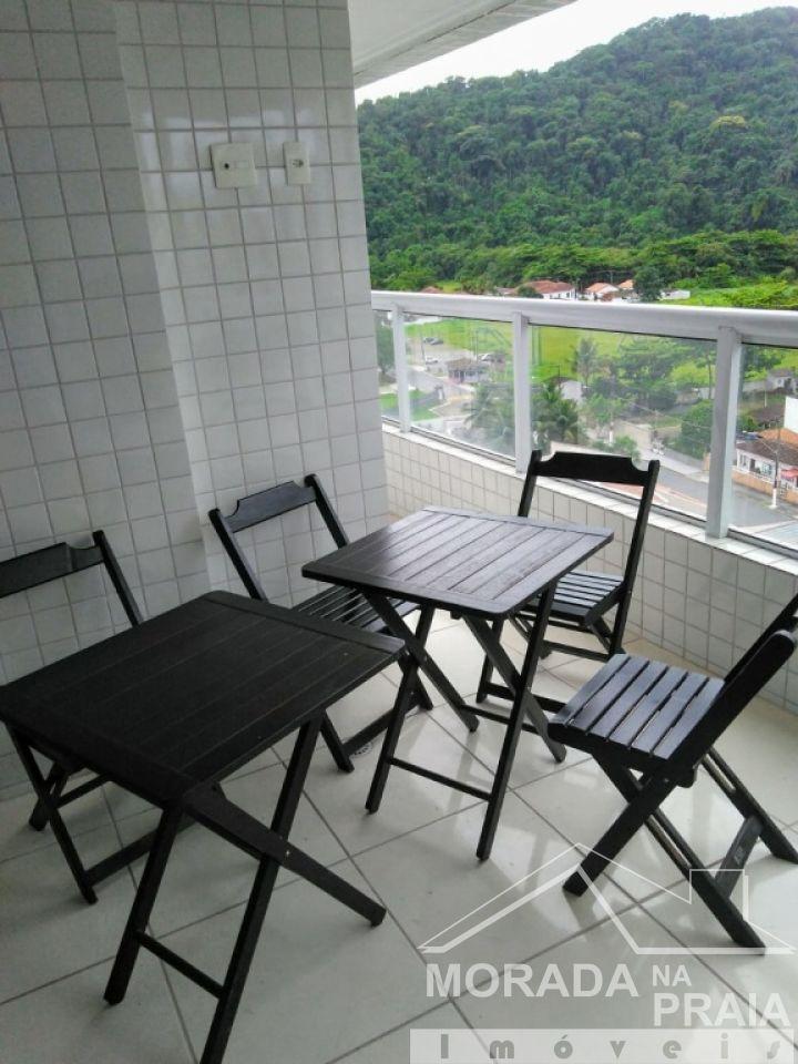 Sacada Sala do apartamento com 3 dormitórios em Canto do Forte - Praia Grande
