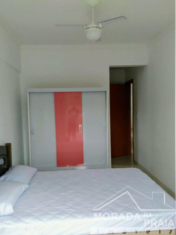 Dormitório do apartamento com 3 dormitórios em Canto do Forte - Praia Grande