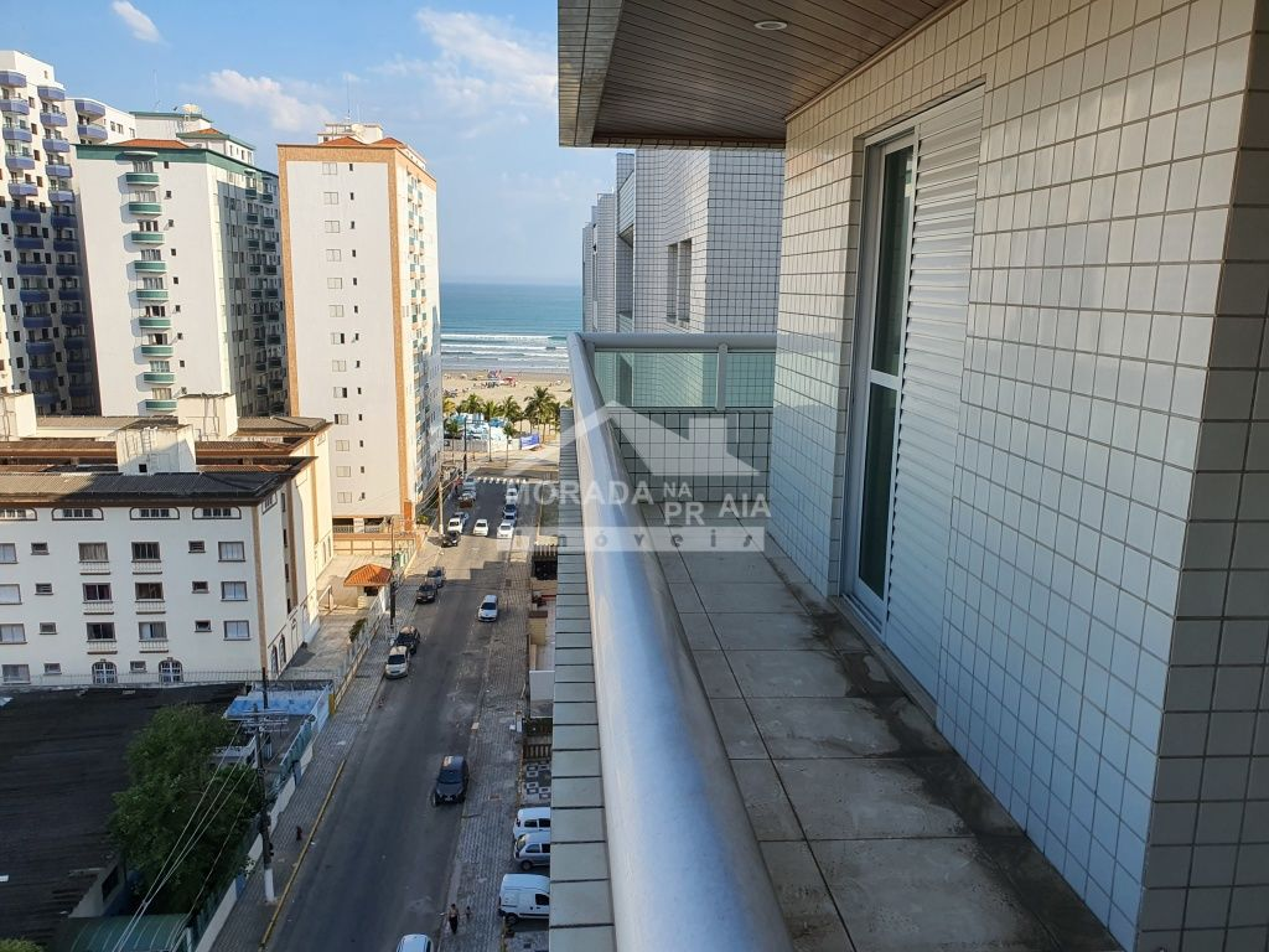 Sala do apartamento com 3 dormitórios em Vila Guilhermina - Praia Grande