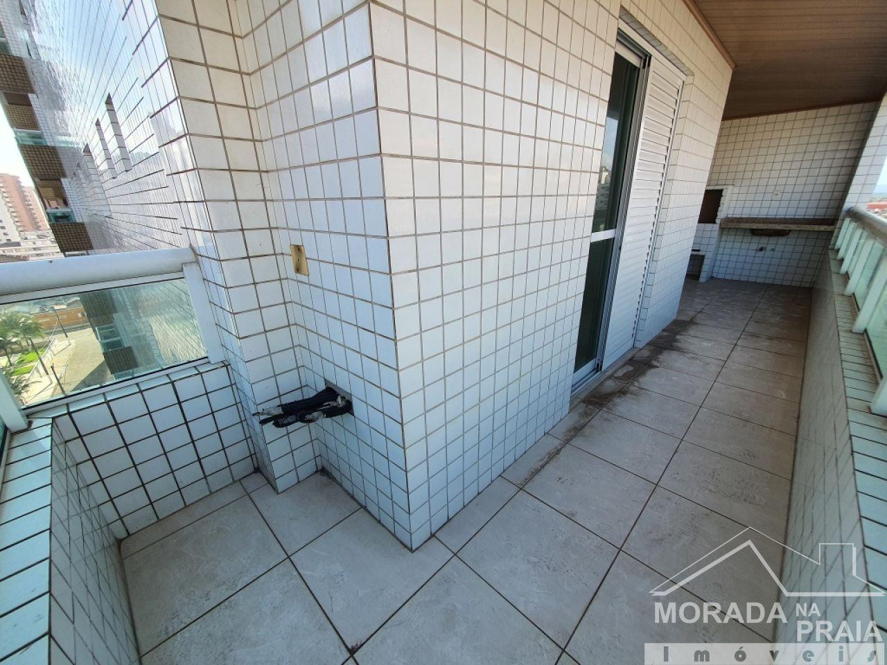 Churrasqueira e pia do apartamento com 3 dormitórios em Vila Guilhermina - Praia Grande