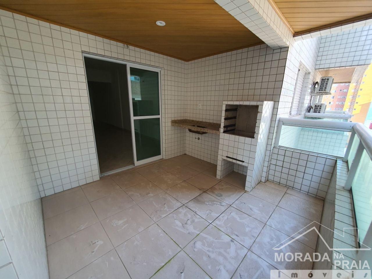 Sacadada suíte do apartamento com 2 dormitórios em Vila Guilhermina - Praia Grande