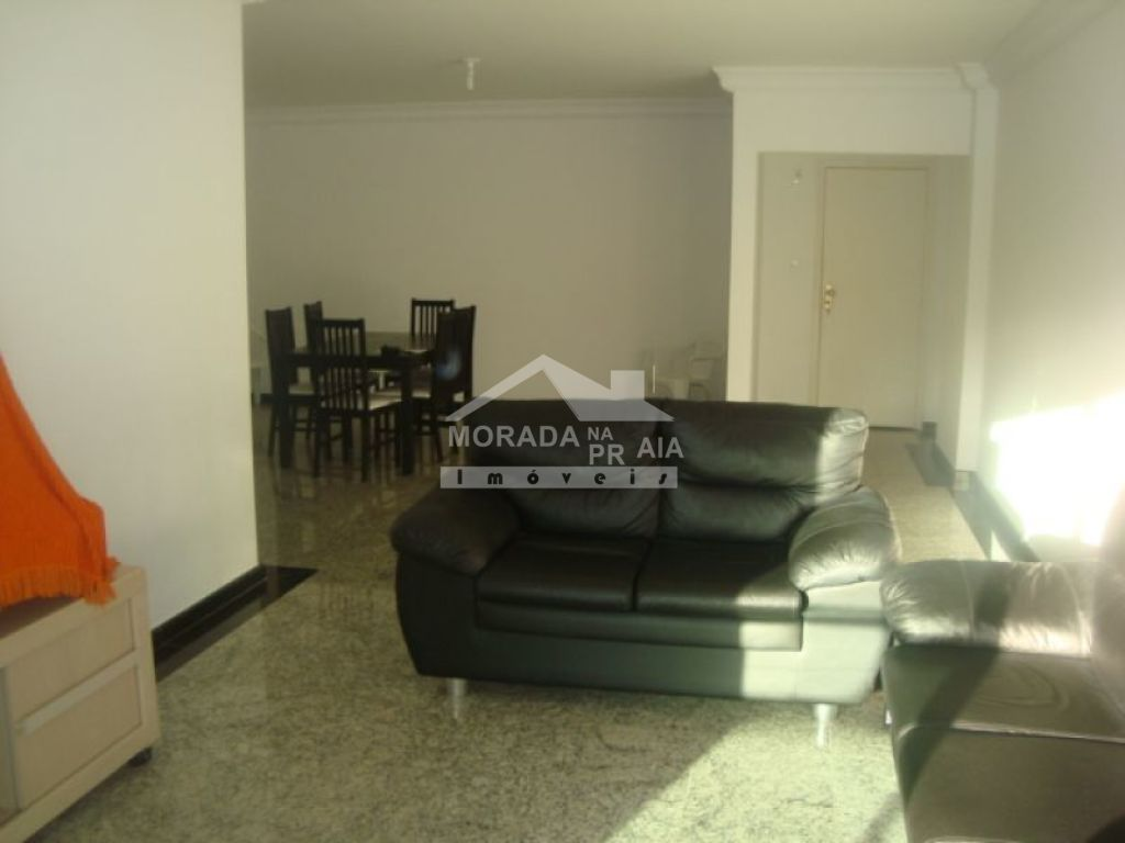 Sala ang 02 do apartamento com 3 dormitórios em Canto do Forte - Praia Grande