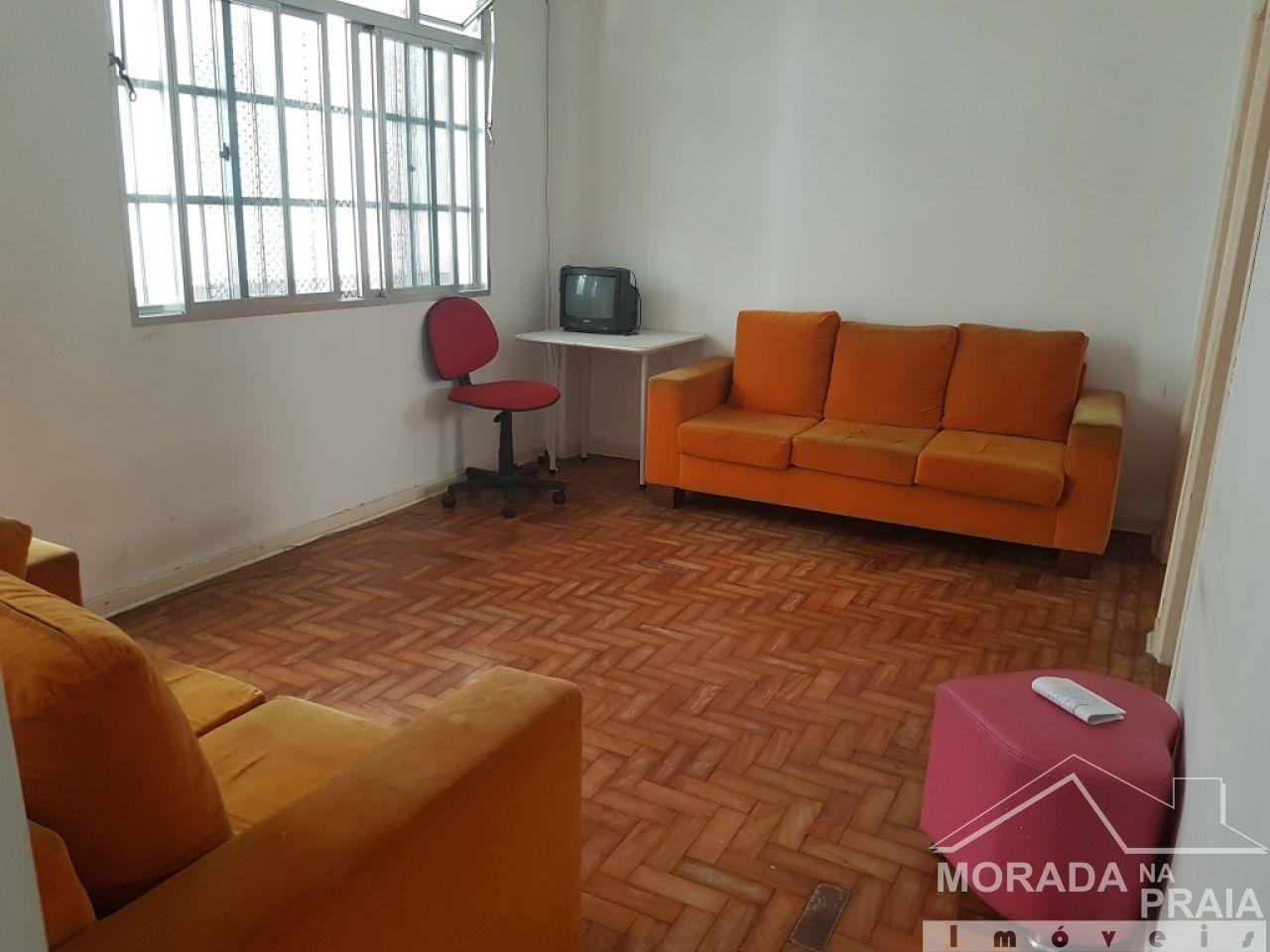 Sala do apartamento com 2 dormitórios em Boqueirão - Praia Grande