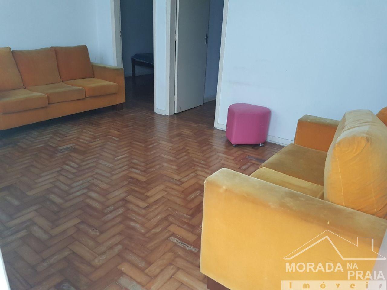 Sala ang 02 do apartamento com 2 dormitórios em Boqueirão - Praia Grande