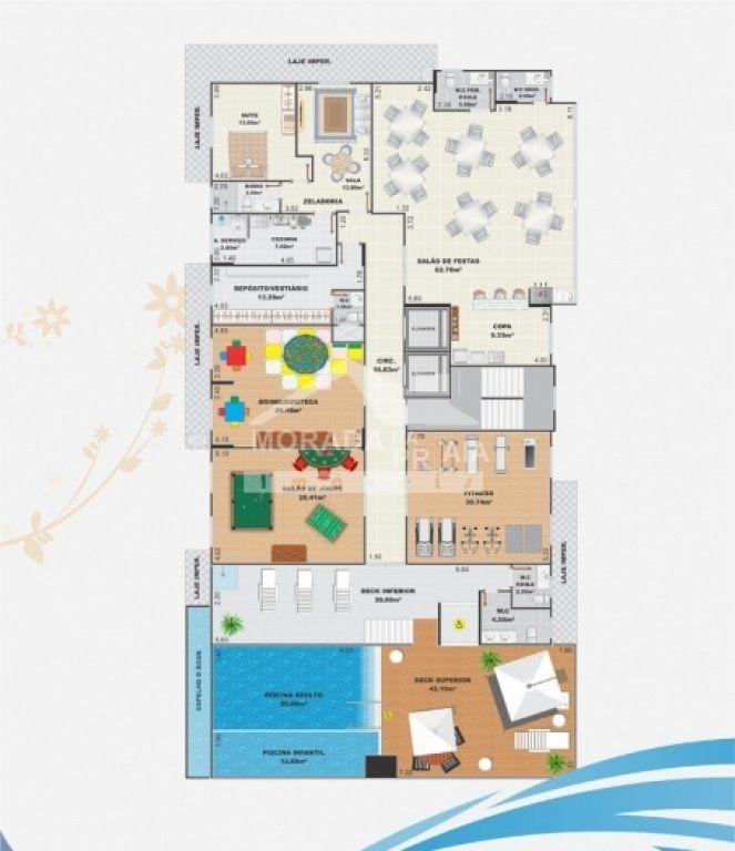 Área de Serviço do apartamento com 3 dormitórios em Campo da Aviação - Praia Grande