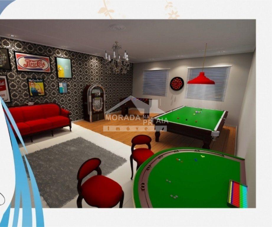 Salão de jogos do apartamento com 3 dormitórios em Campo da Aviação - Praia Grande