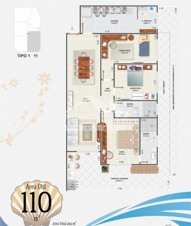 Final 1 do apartamento com 3 dormitórios em Campo da Aviação - Praia Grande