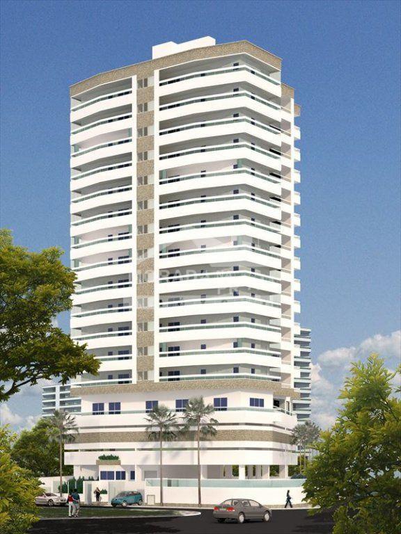Fachada do apartamento com 3 dormitórios em Vila Caiçara - Praia Grande