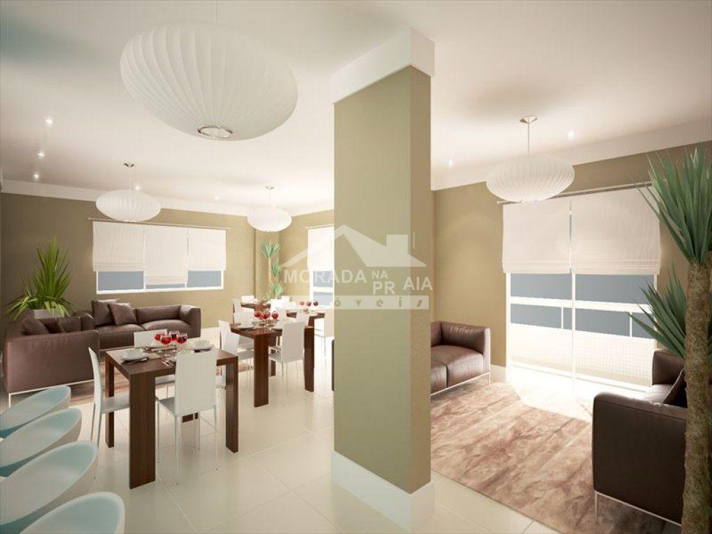 Salão de festas do apartamento com 3 dormitórios em Vila Caiçara - Praia Grande
