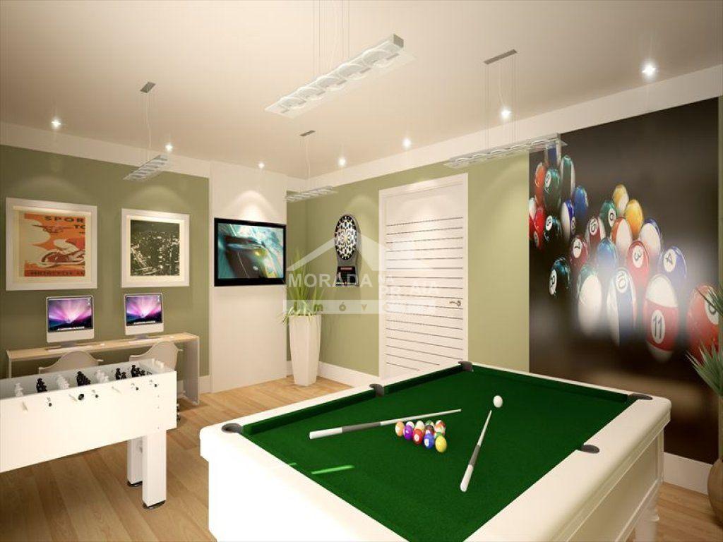 Salão de jogos do apartamento com 3 dormitórios em Vila Caiçara - Praia Grande