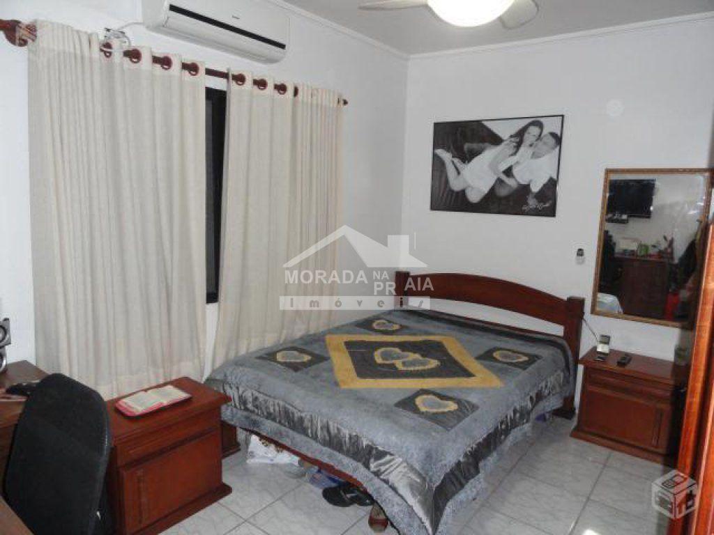 Dormitório 02 do apartamento com 2 dormitórios em Vila Guilhermina - Praia Grande