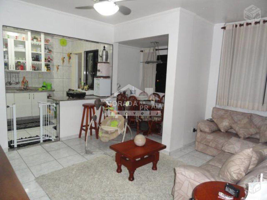 Sala do apartamento com 2 dormitórios em Vila Guilhermina - Praia Grande