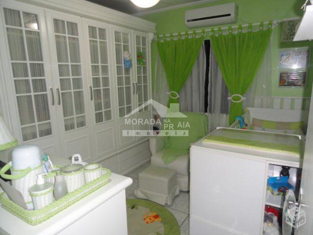 Dormtório 01 do apartamento com 2 dormitórios em Vila Guilhermina - Praia Grande