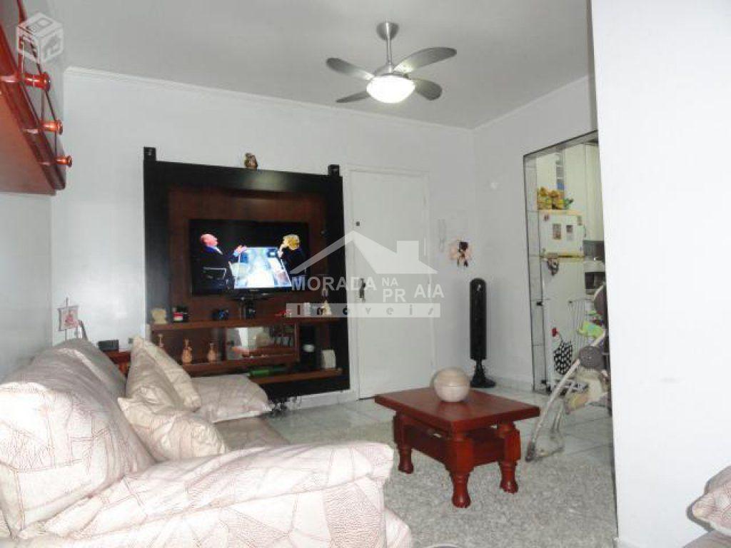 Sala ângulo 02 do apartamento com 2 dormitórios em Vila Guilhermina - Praia Grande