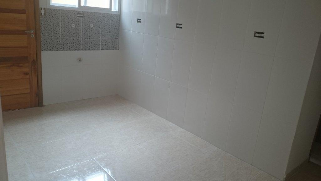 Cozinha do condomínio fechado com 2 dormitórios em Canto do Forte - Praia Grande