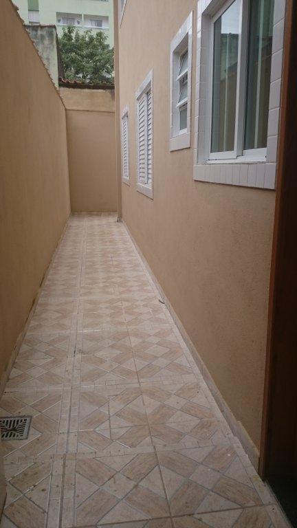 Corredor do condomínio fechado com 2 dormitórios em Canto do Forte - Praia Grande