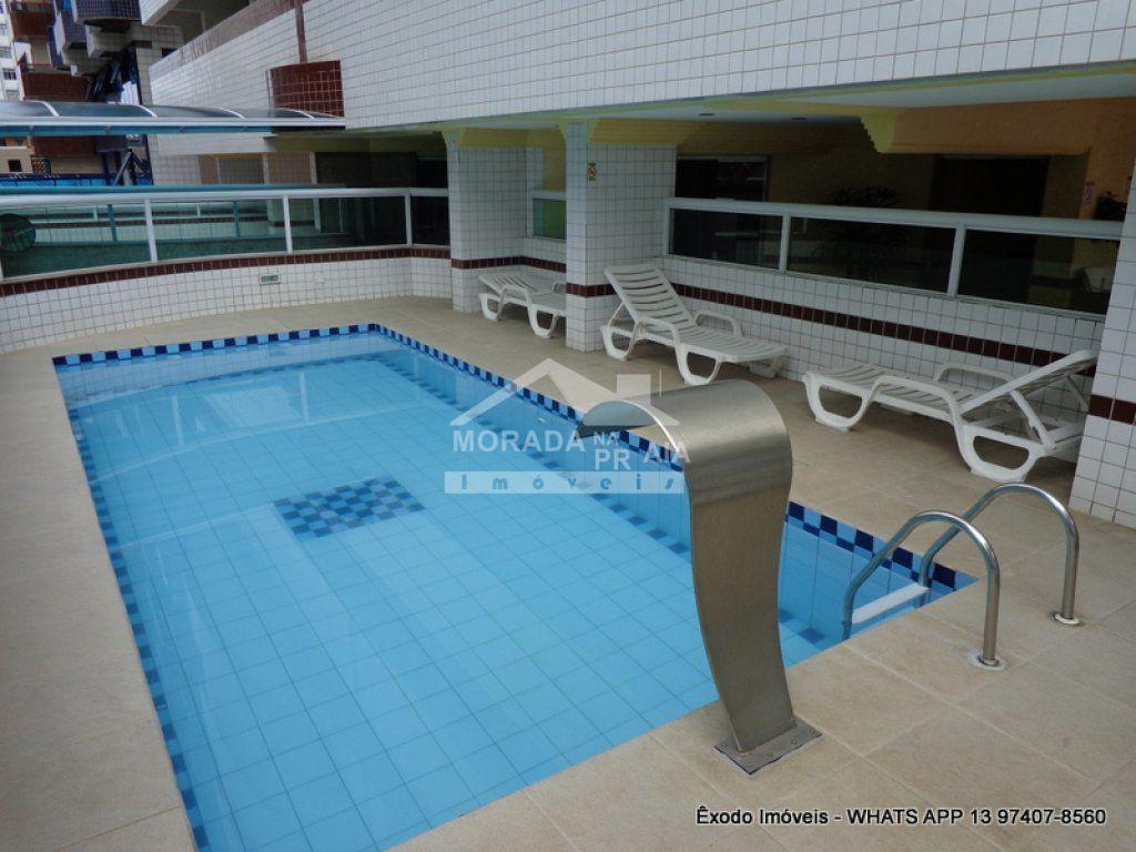 piscina  do apartamento com 1 dormitórios em Cidade Ocian - Praia Grande