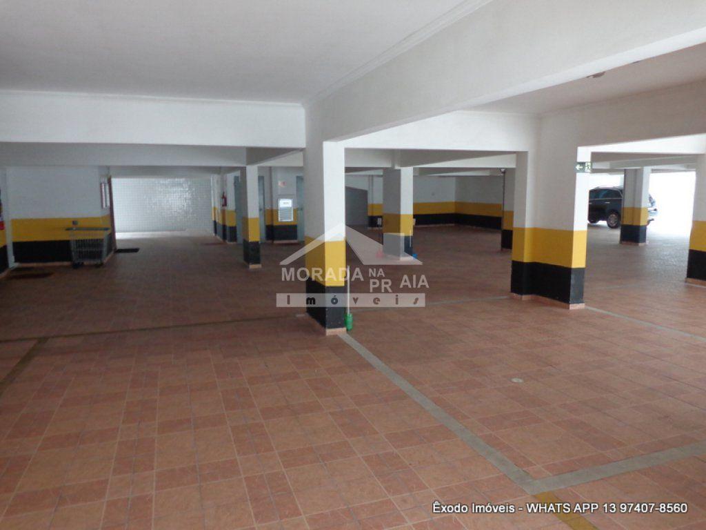 garagem coberta do apartamento com 1 dormitórios em Cidade Ocian - Praia Grande