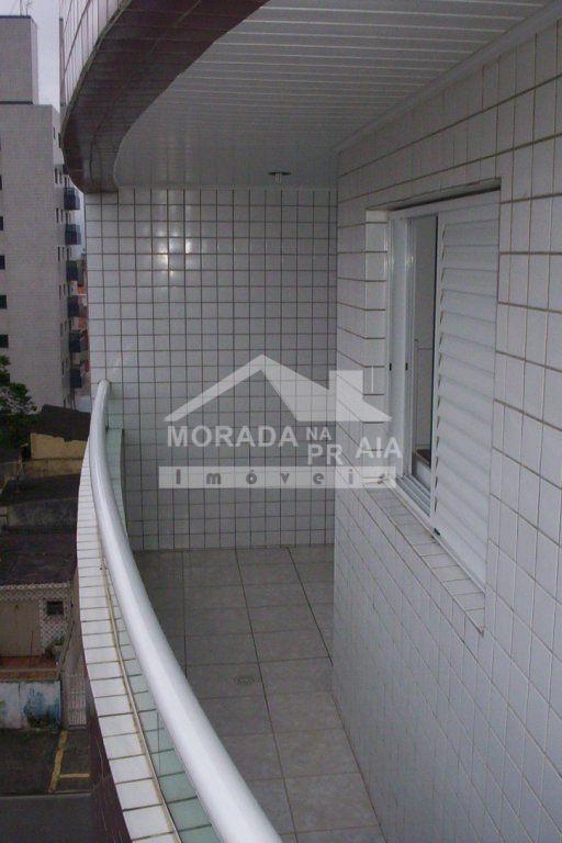 sacada do apartamento com 1 dormitórios em Cidade Ocian - Praia Grande