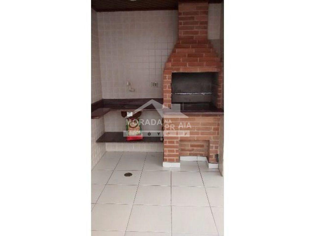 Churrasqueira e pia do apartamento com 3 dormitórios em Vila Tupi - Praia Grande