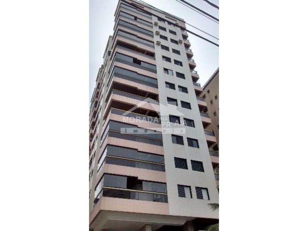 Fachada  do apartamento com 3 dormitórios em Vila Tupi - Praia Grande
