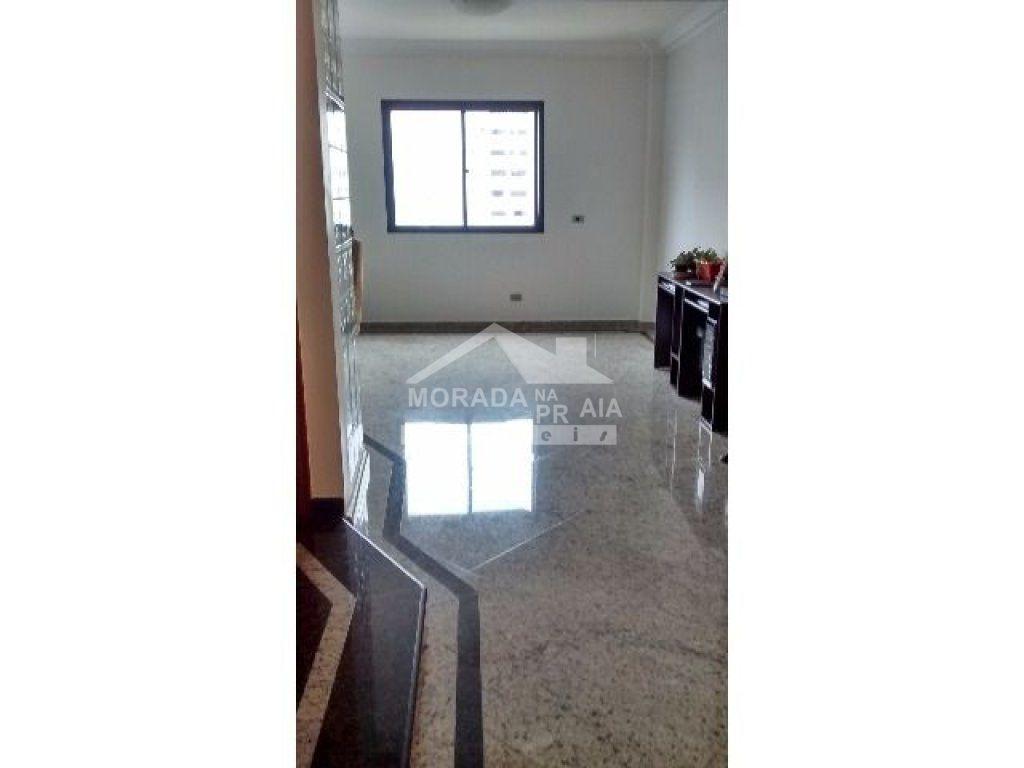 Suíte do apartamento com 3 dormitórios em Vila Tupi - Praia Grande