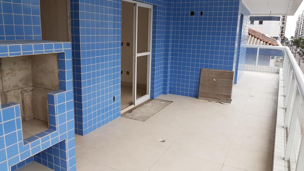 Terraço gourmert ang 02 do apartamento com 2 dormitórios em Canto do Forte - Praia Grande