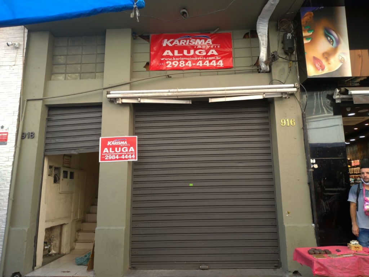 Alugar - Salão Comercial - Centro - 0 dormitórios.