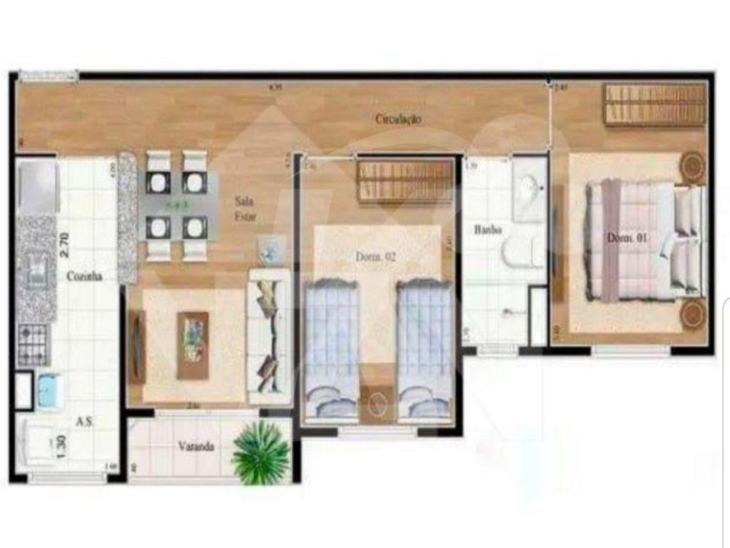 Apartamento Protendit - 2 Dormitório(s) - São Paulo - SP - REF. KA13236