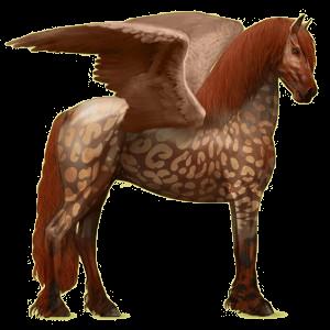 Rijpaard-pegasus Fries Zwart