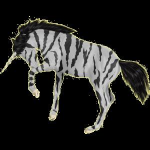Gevleugelde rijpaard-eenhoorn Shagya Arabier Gespikkeld grijs