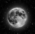 la luna y sus estrallas